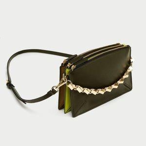 ZARA Three-Toned Crossbody Bag